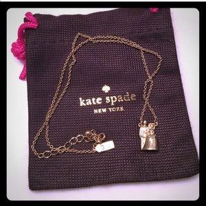 Kate Spade Bride & Groom Cake Topper Necklace